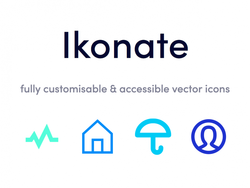 Ikonate – fully customisable & accessible vector icons