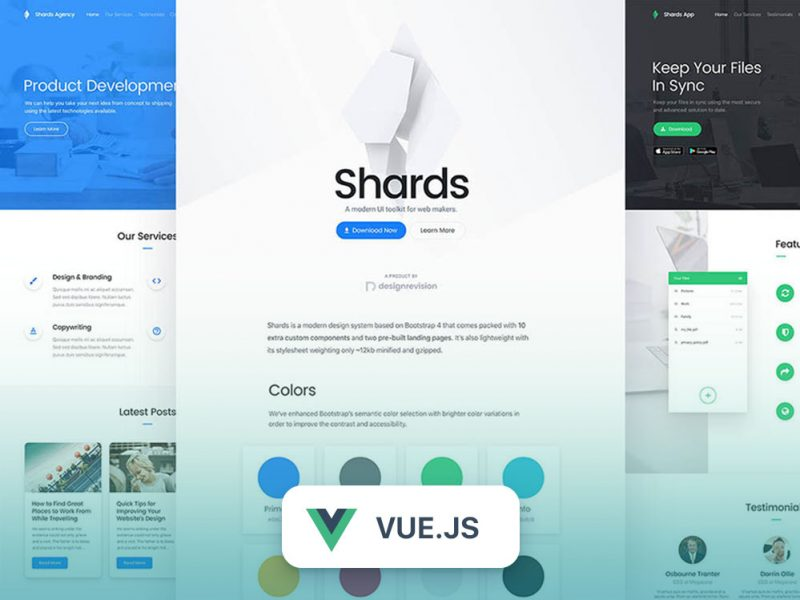 Shards Vue – High-Quality & Free Vue UI Kit –