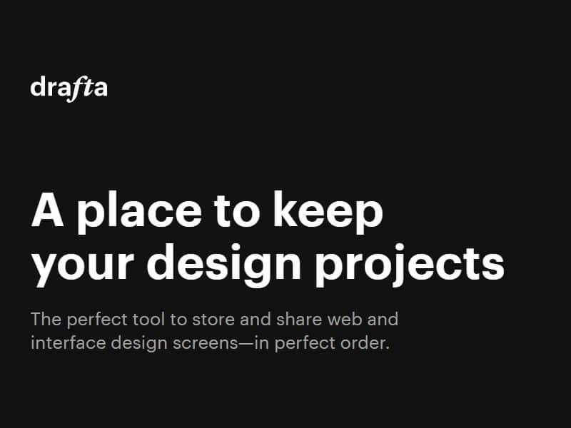 Drafta – a place to keep your design projects