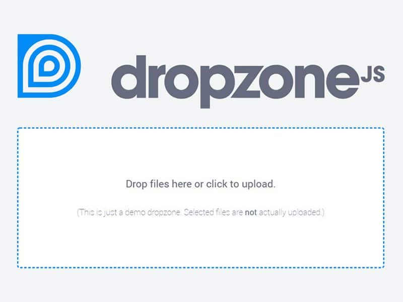 DropzoneJS  drag'n'drop file uploads