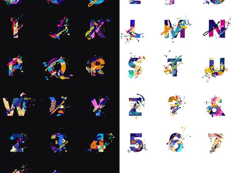 Splash Letters Font