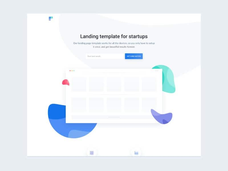 Free landing page templates for startups