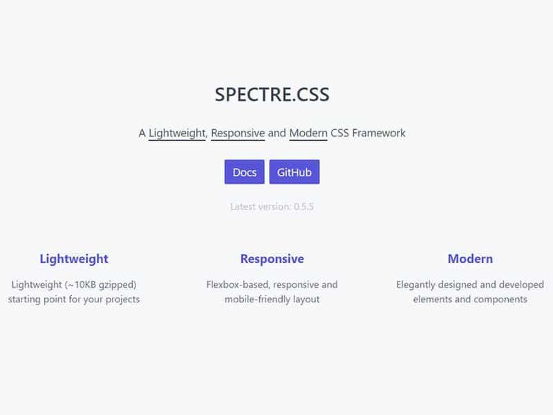 A Lightweight, Responsive and Modern CSS Framework.