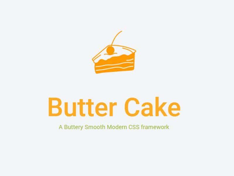 Butter Cake – Modern CSS framework