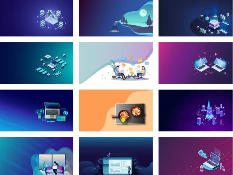 Free illustrations background images for your landing pages