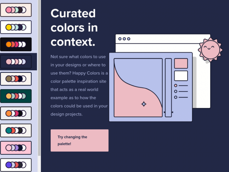 Curated colors in context – Happy Hues
